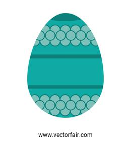 turquoise easter egg, colorful design