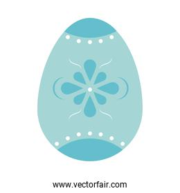 blue easter egg with decorations, colorful design