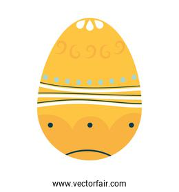 cute easter egg with abstract design