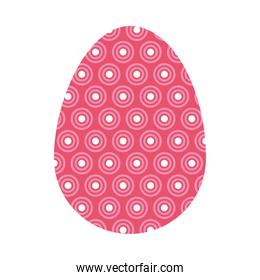 pink easter egg with decorative dots, colorful design
