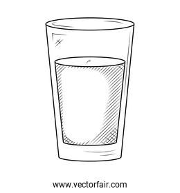 water glass icon, sketch style