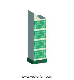 solar panel on building isometric vector design