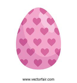easter egg paint with hearts pattern