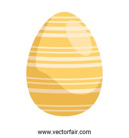 easter egg paint with golden stripes
