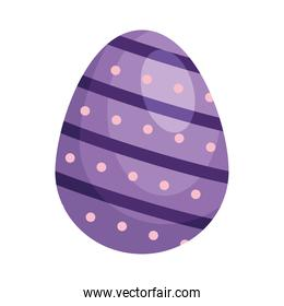 easter egg purple painted isolated icon