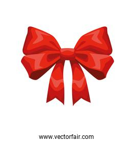 red ribbon bow decorative isolated icon