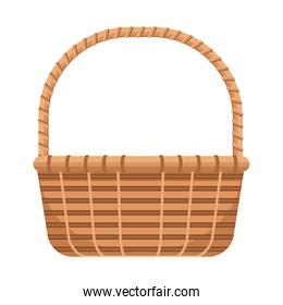 classic basket straw isolated icon