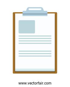 wood checklist clipboard document isolated icon