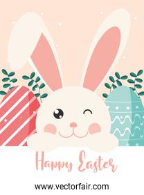 cute rabbit easter