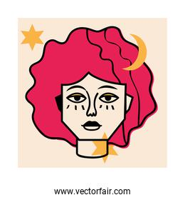 abstract face female