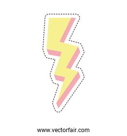 80s patch of a thunder