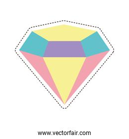 80s patch of a diamond