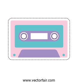 80s patch of a cassette
