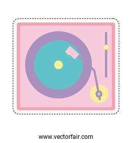 80s patch of a turntable