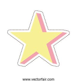 80s patch of a star