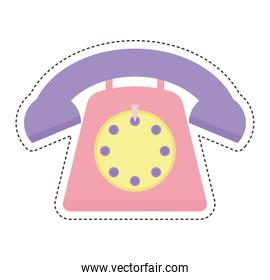 80s patch of a phone