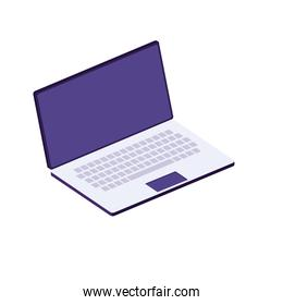 laptop computer device isometric icon