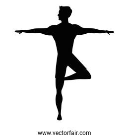 athlete dancing ballet silhouette icon