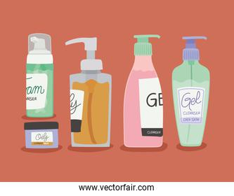 set of skin care icons