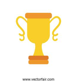 trophy cup on white background vector design