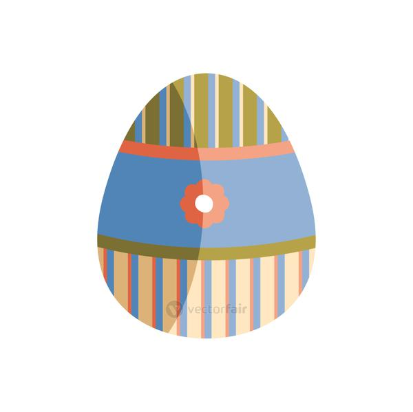 egg painted with flower and stripes easter season