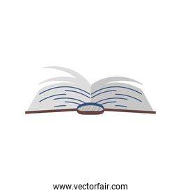 book school literature study cartoon icon isolated style