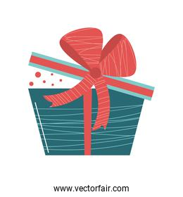 gift box surprise party cartoon icon isolated style