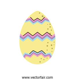 happy easter decorative egg cartoon isolated style