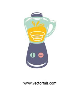 blender appliance utensil cooking sketch isolated style