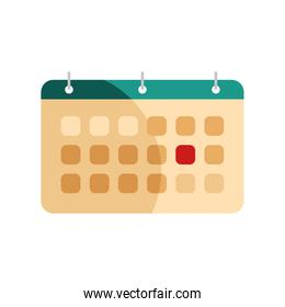 calendar reminder date isolated icon