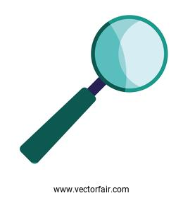 magnifying glass zoom isolated