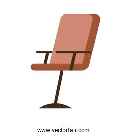 office chair forniture isolated icon