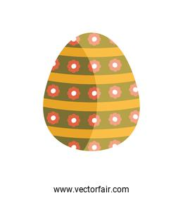 egg painted with flowers pattern easter season