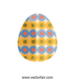 egg painted with circles pattern easter season