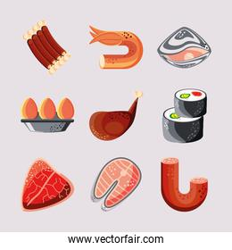 set food meats