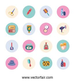 makeup products icons