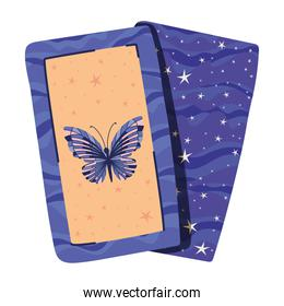 esoteric cards with one butterfly