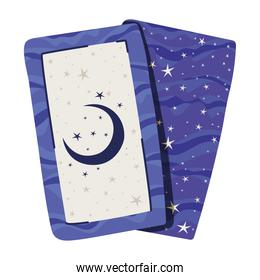 esoteric cards with one moon