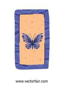 esoteric card with one butterfly