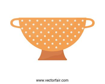 cook strainer isolated
