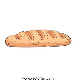 fresh bread bakery isolated icon