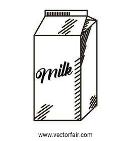 milk box drawn