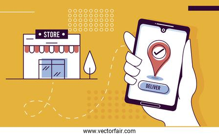 smartphone and store