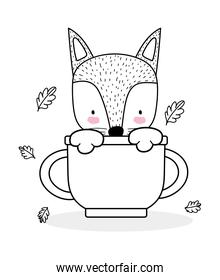 fox on cup