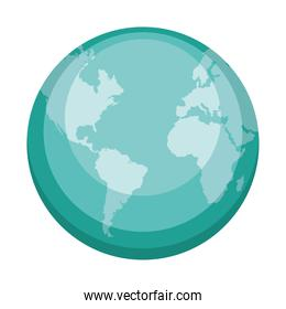 world planet icon isolated
