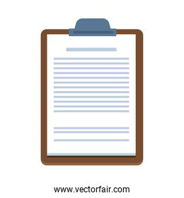 wooden checklist clipboard document isolated icon