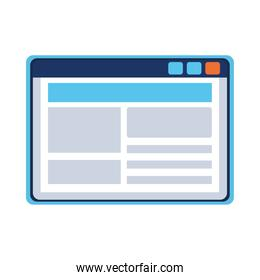 template webpage window isolated icon