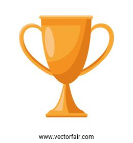 golden trophy cup award isolated