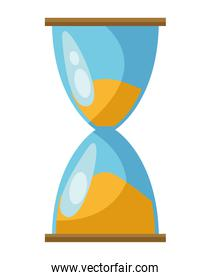 hourglass sand watch isolated icon