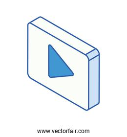 isometric media player button icon
